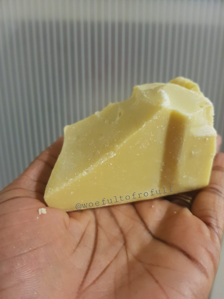 cocoa butter, big chunk
