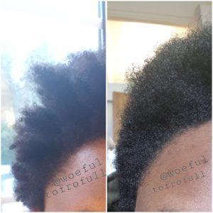 woeful to frofull, trim, bushy ends, texture shot